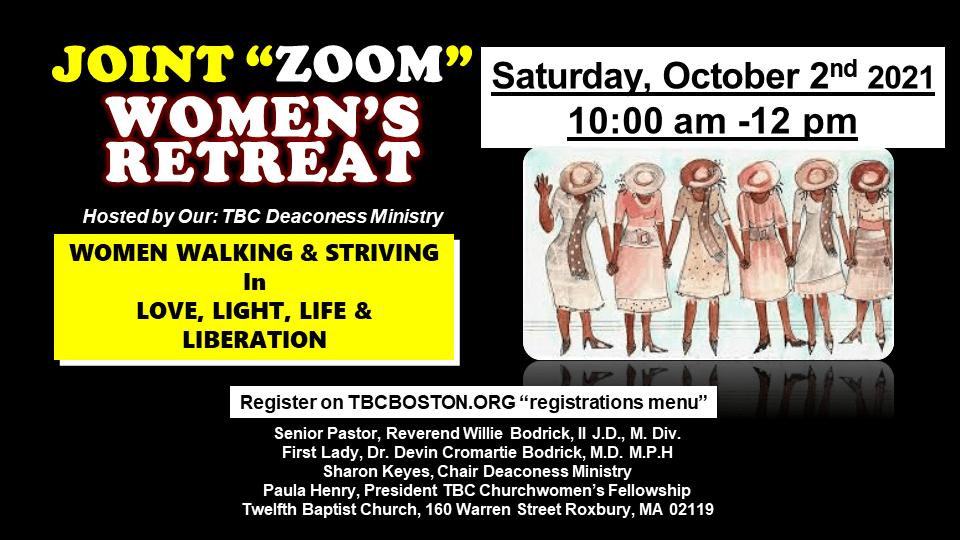 Women's Joint ZOOM - October 2, 2021