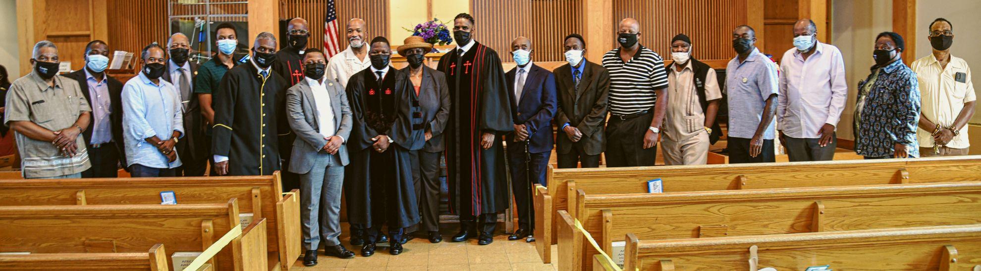 Twelfth Baptist Church Men from Laymen's Sunday Sept. 19, 2021